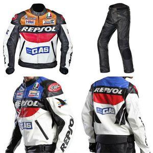 REPSOL hommes de moto en cuir PU Racing Veste Armure d'équitation manteau de protection cosplay