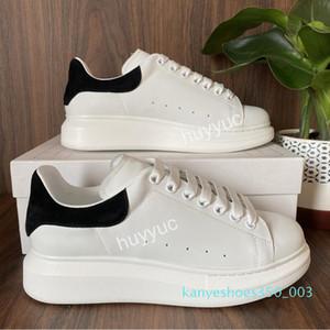 Top-Qualität der Frauen der Männer Blcak Velet Turnschuhe Günstige beste Art und Weise weißer Leder-Plattform-Schuh-flache Im Freien Daily Dress Party Schuhe k03