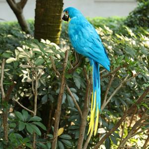 Piuma artificiale Blue Birds Parrot Craft Tassidermia Home Art Decor Ornament