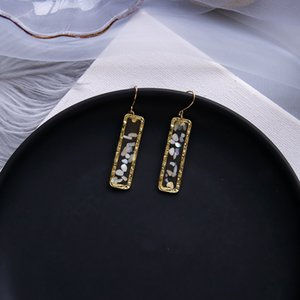 Designer 2020 Conception coréenne Tempérament en ligne Celebrity chaud Boucles d'oreilles Femme Tassel Pendentif oreille Trendy Stud Oreille géométrique Stud Oreille Petit Juif