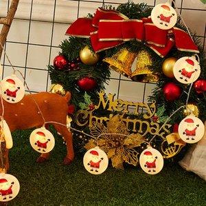 حار بيع 2020 جديد جميل شجرة عيد الميلاد موس ثلج والرنة سلسلة مع 1.5 M LED زينة عيد الميلاد في سوق الأسهم