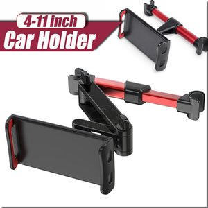 Flexible giratorio de 360 grados para el iPad almohadilla del coche del sostenedor del teléfono móvil de la tableta del soporte del asiento trasero del apoyo para la cabeza soporte del montaje de 5-11 pulgadas