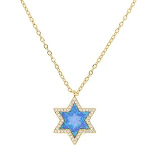 opale étoile collier pendentif opale de haute qualité couleur argent or mode feu bleu