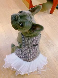 Denim Hundekleider Vier Jahreszeiten Universal-Katze-Haustier-Kleidung Outdoor Sport Dreee Up Hunde-Bekleidung Kostenloser Versand