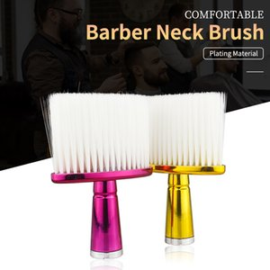 Professional Plating Surface Fiber Hair Cleaning Brush Salon Beauty Accessories Barber Neck Brush With Four Colors