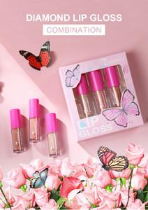 DHL FREE Teayason Lip Makeup Liquid Lipstick Sets 3 Colors Lip Gloss Eyeshadow highlighter Blush Plumper Plumping Gloss Moisturizer 6 Styles