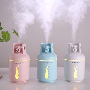 Tanque de gas 300ml humidificador de aire niebla fina USB Aroma Aceite esencial difusor romántica luz de la lámpara de oficina para el dormitorio Humidificador