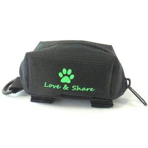 똥 가방 디스펜서, 개 똥 가방 홀더 가죽 끈 첨부 - 걷기, 달리기 또는 하이킹 액세서리