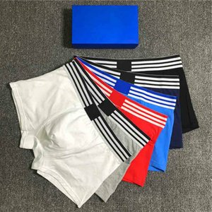 2020 New Fashion Men's Underwear Europe and America Style Male Breathable Boxers Smooth Fit Not Tight Comfortable No Curling 6 Colors M-2XL