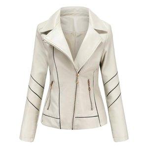 AKSR 2020 delle donne modelli primavera in pelle e autunno giacca di pelle PU colore solido grandi dimensioni sezione sottile di tendenza di modo sottile