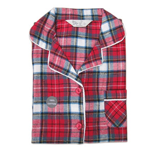 Sexy Red plaid quality 100% brushed cotton autumn plus size female pajama sets women Long sleeve pyjamas for women home wear 200919