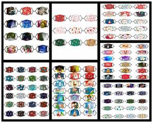 Noel Noel Baba Yüz Maskeleri Spoof Palyaço Kafatası Noel Geyik Ağacı Yetişkin Çocuk childre için Karikatür toz geçirmez Maske PM2.5 Filtre Maske