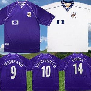 1998 99 Retro Ferdinand Jersey Ginola Klinsmann fútbol SPURS Sheringham ANDERTON Armstrong Sherwood Vega TOTTENHAM camisa clásica de Fútbol