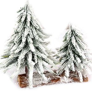 Christmas Tree Burlap Flocking Snow Scene Arrangement Christmas Decorations Desktop Decoration Home Artificial Trees