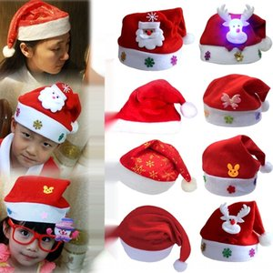 أحمر الزينة الكبار العادية سانتا كلوز / الكبار الأطفال الزينة الحمراء العادية قبعة عيد الميلاد سانتا كلوز / الأطفال قبعة عيد الميلاد UcxCo جامعة كاليفورنيا