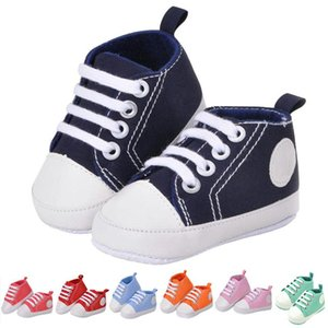 Newborn Baby Boys Girls Soft Sole Shoes Infant Lace Up Sneakers Prewalkers Shoes 88 NSV775