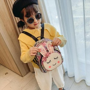 School Bags 2019 NEW Baby child girl backpack college wind cute bow rabbit fashion sequins bag