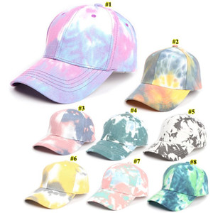 Gradient Baseball Cap Tie-dye Trucker Hat Spring Summer Designer Colorful Sun Hat Fashion Outdoor Sports Hip-hop Cap OOA9038