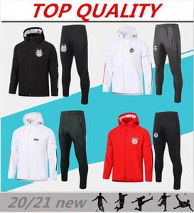 Top 20/21 giacche lunghe zip con cappuccio impermeabili 2020 2021 Camisola de Futebol giacca con cappuccio a vento Calcio sportivo traspirante