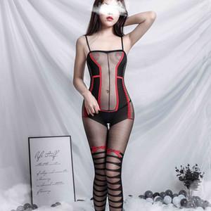 sexyLong Night Man Сексуальное белье Чулки Цельный Прозрачный Temptation Взрывное Костюм Размытие Производитель 8849