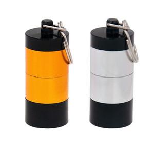 Portatile DAB cera tabacco contenitore 4 strati Medicina scatola di pillola in metallo Vaso di immagazzinaggio Porta stoccaggio per erbe asciutta VAPorizer a base di erbe Keychain DHL