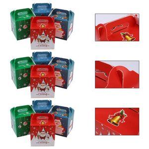 12шт Xmas Творческий Candy Box Gift Box Рождество бумаги компании Apple (Random Color)