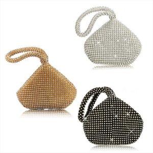 Fashion Bags Prom Purse Glitter Bag Party Vintage Evening Triangle Small Womens Lady Female Clutch Wristlets Handbag New Npcid