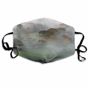 Víspera de Navidad personalizada Cara Máscara Campo Reduzca Máscaras Camino que lleva a prueba hasta el otoño deportes al aire libre de polvo respirable cara