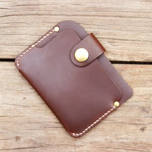 New Luxury Handmade Genuine leather card holders men card ID Horder leather sleeve women wallet case