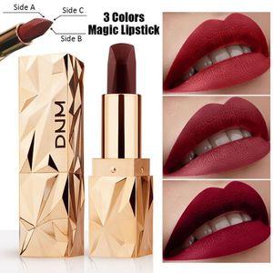 Tricolor Lipstick Non-stick Cup Waterproof Long-lasting Color Changing Lipstick Matte