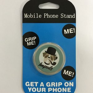 Custom Phone grip holders with logo 360 degree collapsible personalized grips stand for cell phone with 3M glue expandable finger stands