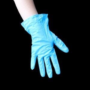 Guantes desechables azul barato de vinilo de PVC en polvo libre examen