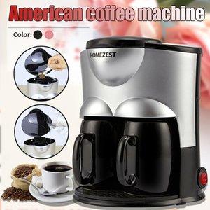 Electric Mini Coffee Machine Coffee Maker Ceramic Double Cup Household Full Automatic Americano China Cafetera Espresso