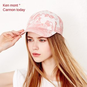 Sweet printed Korean style baseball baseball cap fashionable ladies summer outdoor travel sun hat running hat cap cap
