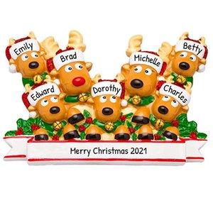 New Hot Sale Christmas Decoration Pendant DIY Name Wishes PVC Elk Christmas Tree Hanging Pendant Christmas Ornament