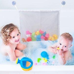 Pliante pour enfants Jouets pour le bain Tidy stockage Ventouse Mesh Bag bébé Salle de bain à jouets net suspendu Sacs DIN889