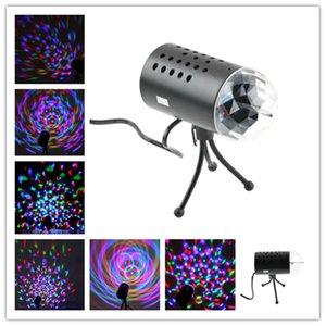 3w 풀 컬러지도 한 음성 부활 회전 램프 RGB 크리스탈 매직 볼 레이저 무대 조명 디제이 KTV지도 효과 디스코 램프 전구 자동 회전