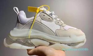 d2020 новой моды Тройной Кристалл Bottoms Мужские Женские Повседневная обувь Paris 17FW кроссовки Vintage папа Платформа Женщины Flats Тренеры 08C