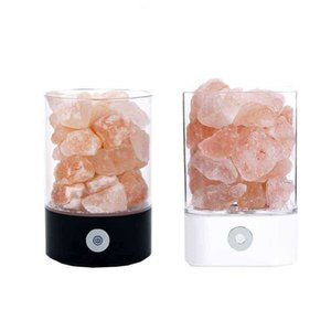 Negativo lámpara de sal del Himalaya Crystal Saltstone natural de iones de sal bloqueo creativo regalo Bedhead dormitorio lámpara de mesa.