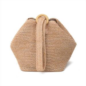2019 womens straw bag rattan hand woven Tote bag fashion summer beach bag NEW Drop Shipping