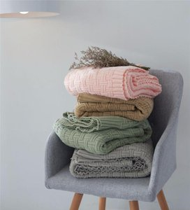 New High Quality Acrylic Blankets Winter Warmth Knitted Blanket Sofa Bed Cover Quilt Knitted Blanket Decoration 120x170cm