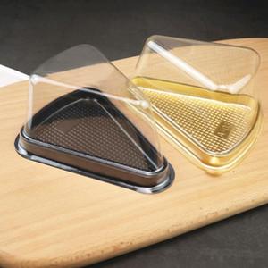 وصول جديدة من البلاستيك واضح يمكن التخلص منها كعكة مربع واحد الفردية 8 بوصة مثلث كعكة صناديق الغذاء الحلوى التعبئة DHE1399