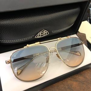 uomo in oro auto occhiali Top K progettista occhiali quadrati titanio quantità frame superiore esterno UV400 occhiali da sole L'OSSERVATORE 2 di alta qualità