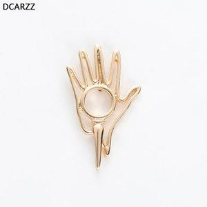 DCARZZ mano Pin Biologia Chimica gioielli regalo dell'oro perni metallici Moda Bella Pins Spille Donne Accessori
