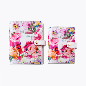 Vintage Flower Printing Cover Planner 2020 A5A6 Floral Notebook Index Divider Weekly Monthly Refill Creative Gift Stationery