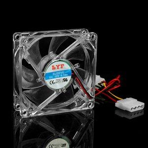 Klare 4-LED Blau Neon Light 80mm 12V 0.18A PC-Computer-Kasten Kühlventilator 8025 WXTB