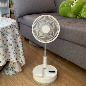 Retractable Folding Portable Fan Multi-functional Electric Fan Mute Moving Head Remote Control Rechargeable Floor