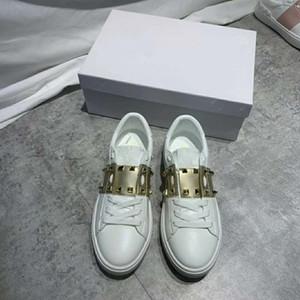 Mit Box 2020 Design-Walking-Schuhe für Männer Frauen Low Cut Weiß Schwarz Freizeit im Freien echtes Leder Turnschuhe Loafers Größe 35-44