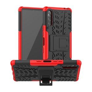 À prova de choque Armadura Caso Sony L4 Caso Xperia Para híbrido Kickstand Dual Layer Capa protetora para Sony Xperia L4 tampa traseira