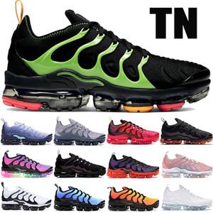Nuovo PLUS TN scarpe da corsa elettriche blu rosa di tensione mare viola triple mens costiere nero verde nero bianco delle donne di scarpe da ginnastica di sport